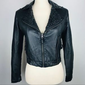 B Hip By Me Jane Faux Leather Jacket Black
